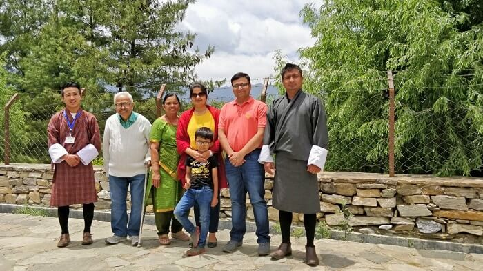 rohit bhutan family trip travelogue all in traditional dress
