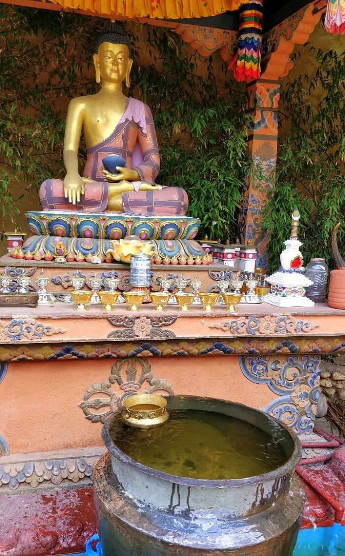 rohit bhutan family trip travelogue buddha statue