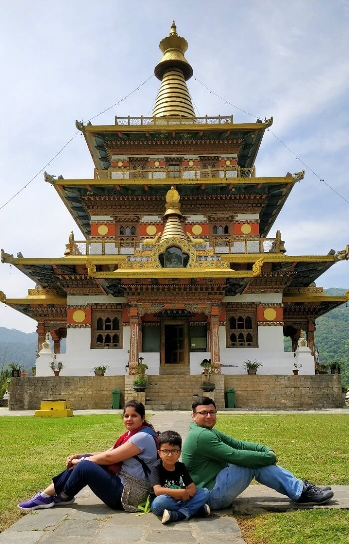rohit bhutan family trip travelogue monastery pic
