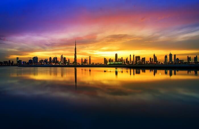 Evening in Dubai