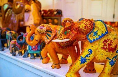 Colorful elephants