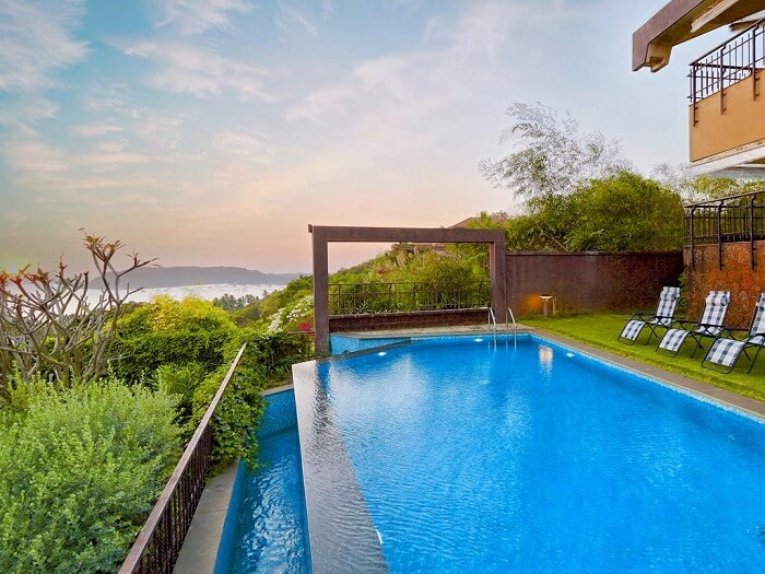 plush pools of villa