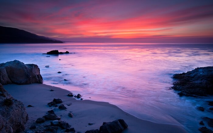 sunset at Leo Carrillo State Beach