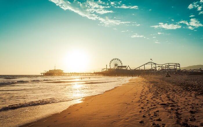 the gorgeous Santa Monica State Beach s
