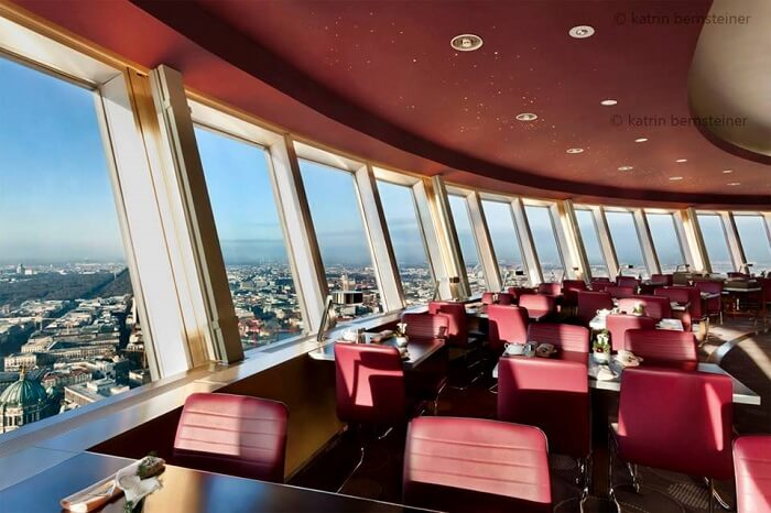 views from tv tower restaurant