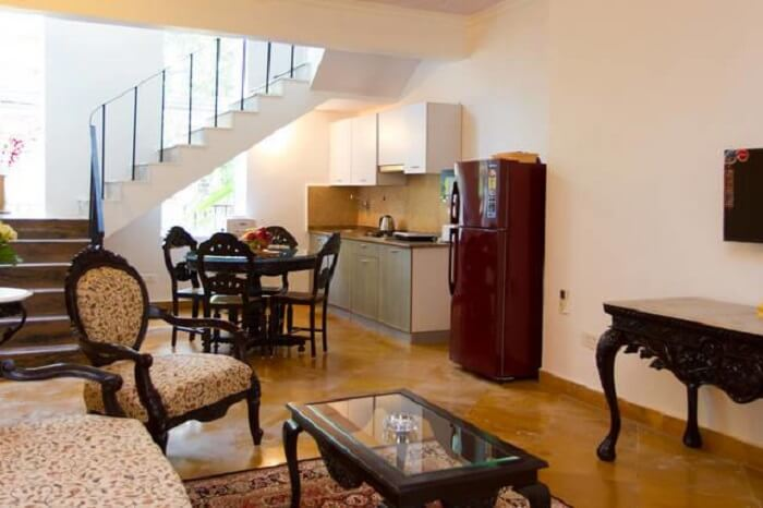 living area in villa casa bala