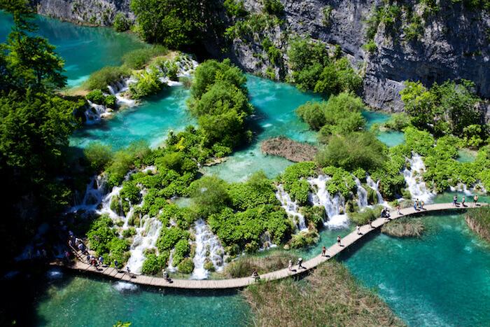 Cluster of lakes in Croatia