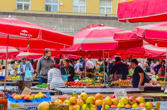 Food Market in Zagreb
