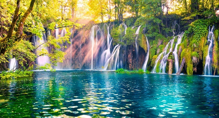 Plitvice lakes in national park
