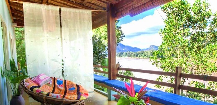 view from the balcony of mekong villa