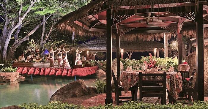 Beautiful Tropical Decor Restaurant