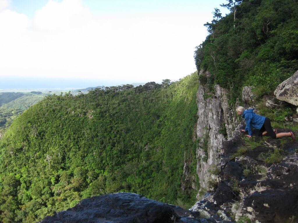 steep hike towards the waterfall