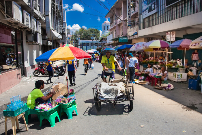 A market area in Ceby city in Philippines
