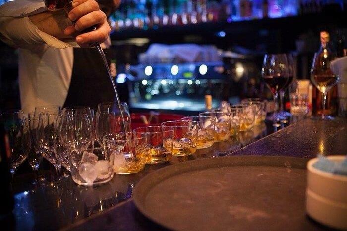 drinks in corner bar