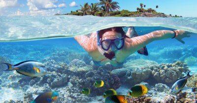 A woman snorkeling in Krabi, Thailand