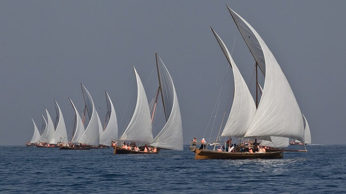 Dhows Rowing