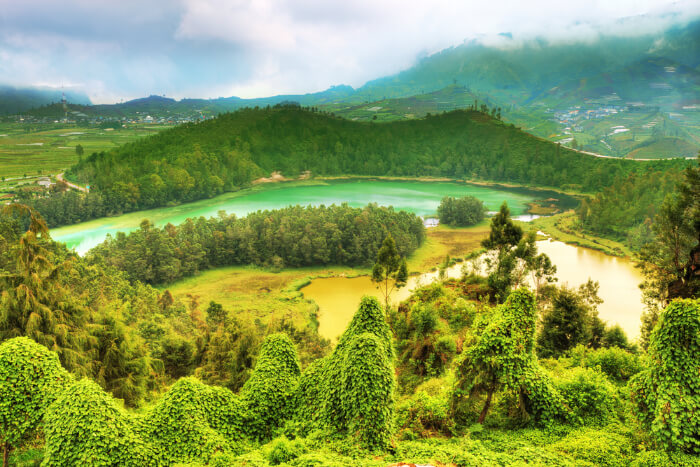 Dieng Plateau in Java Island of Indonesia