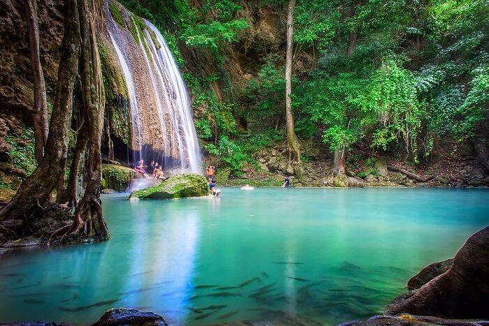 7-tiered Erawan Falls