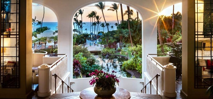 the beautiful resort is a fusion of Hawaiian vibes
