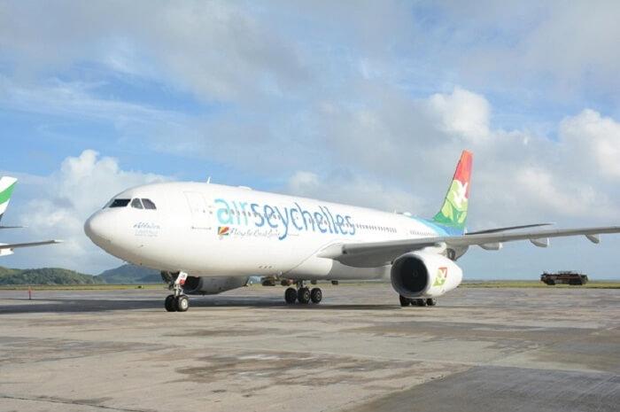 Flight to Seychelles
