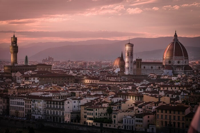 beautiful city view of florence