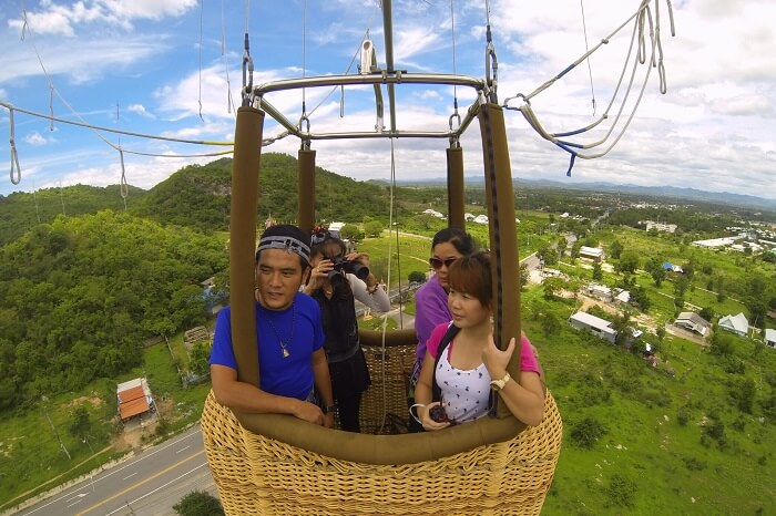 Get a bird's eye view of Hua Hin from a hot air balloon
