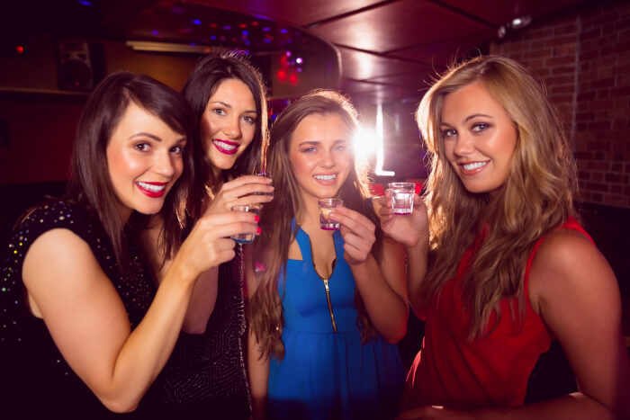 Girl's enjoying ladies' night out in a club