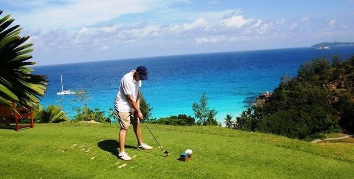 Golfing at Seychelles