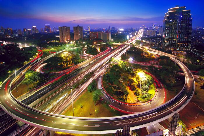 Jakarta in Java Island of Indonesia