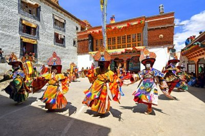 Karsha Gustor Festival in Padum Valley of Zanskar Jammu and Kashmir