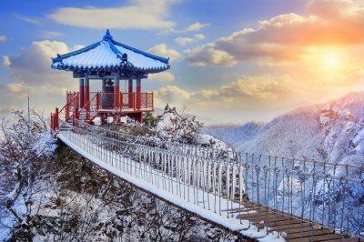 Korea in winter snow