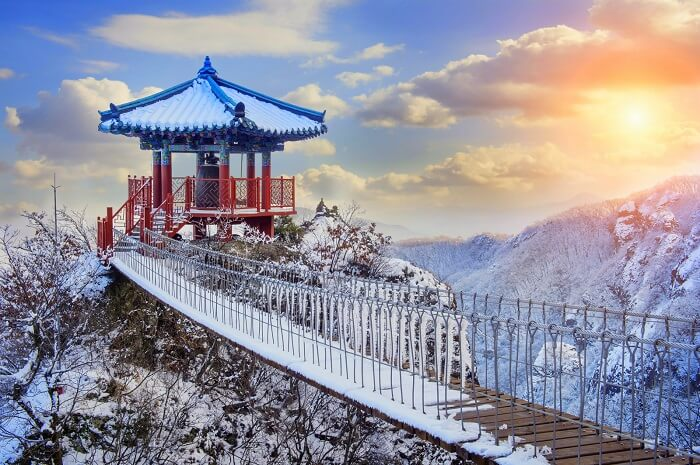 Korea in winter snow