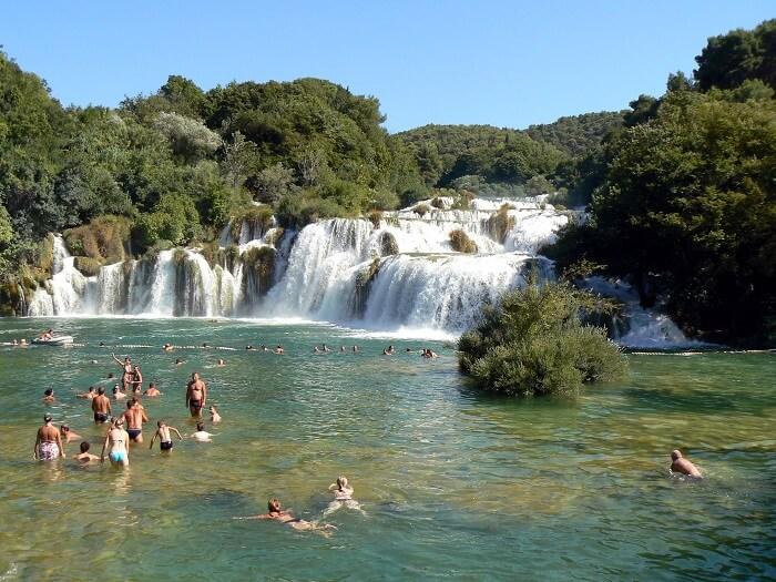 swimming in krka falls