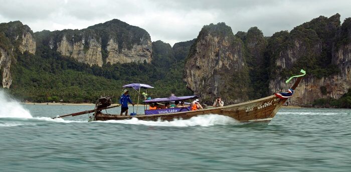 long tail boat tour around four islands