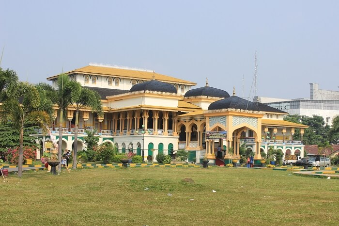 Meda city in Sumatra
