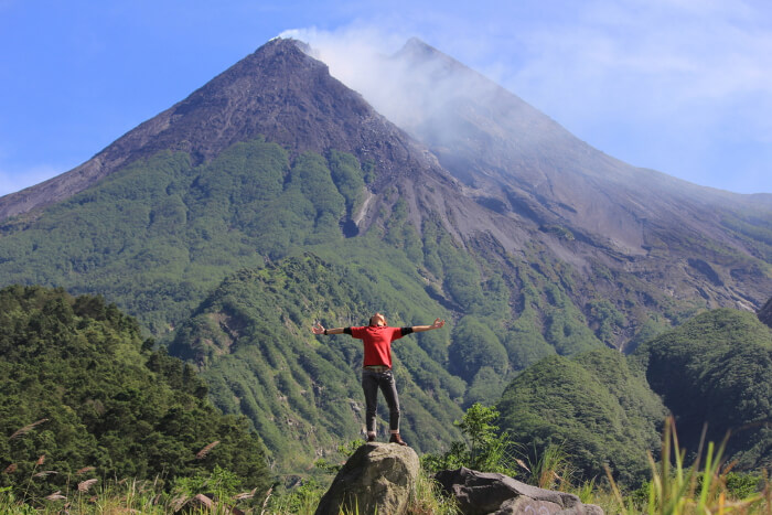 Merapi Volcano in Java Island of Indonesia