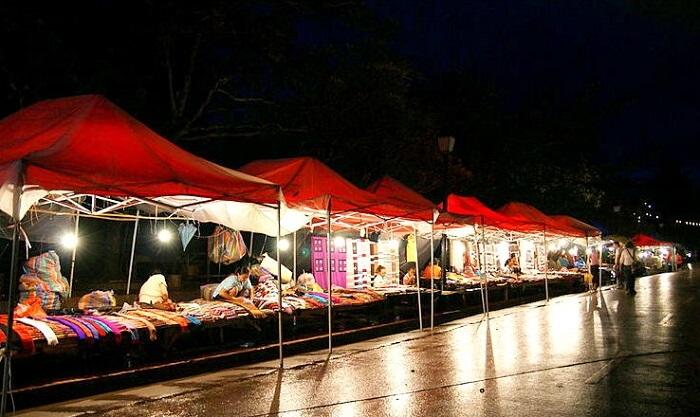 night stalls luang prabang market
