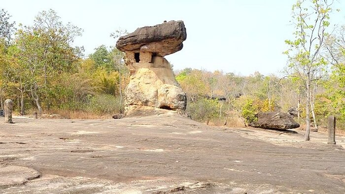 stone structure in Phu Phra bat historical park
