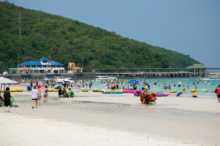 Tawaen Beach in Koh Larn Thailand