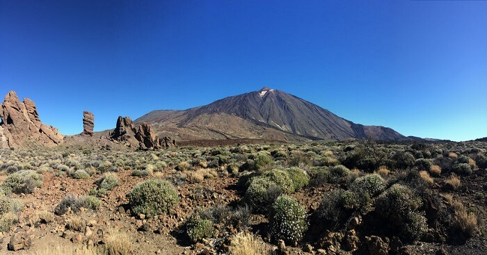 the mountains of Teide National Park