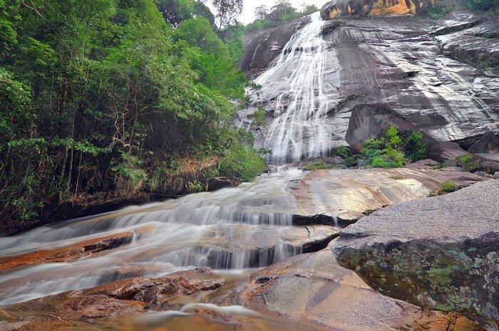 Telagah Tujuh waterfall