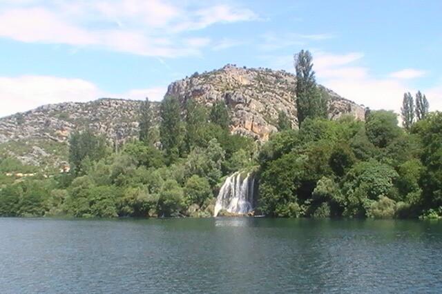 Watching the Roski Slap waterfalls