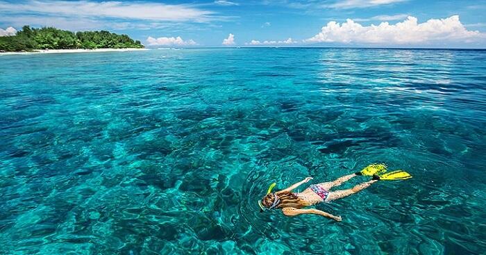 water sports like snorkelling