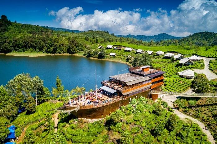 Badung boat shaped restaurant