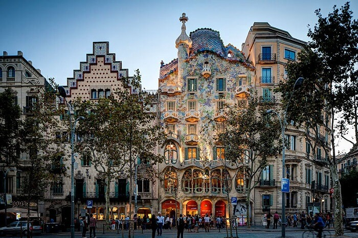 a building in Barcelona