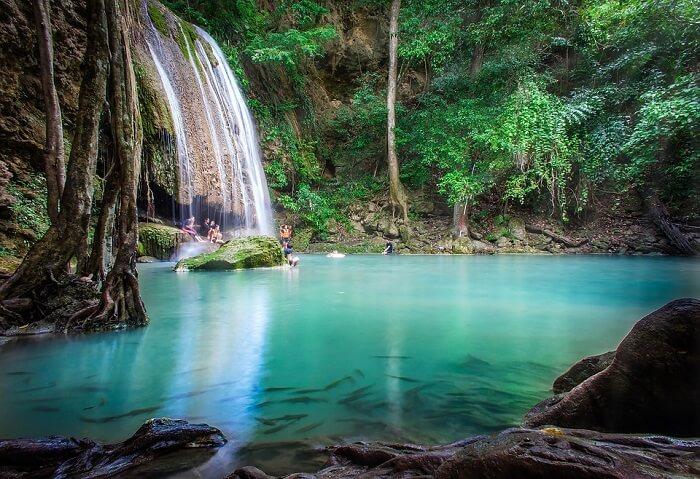 beautiful falls in erawan park