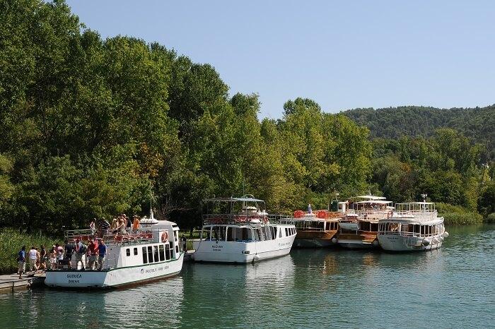 boat trip in krka