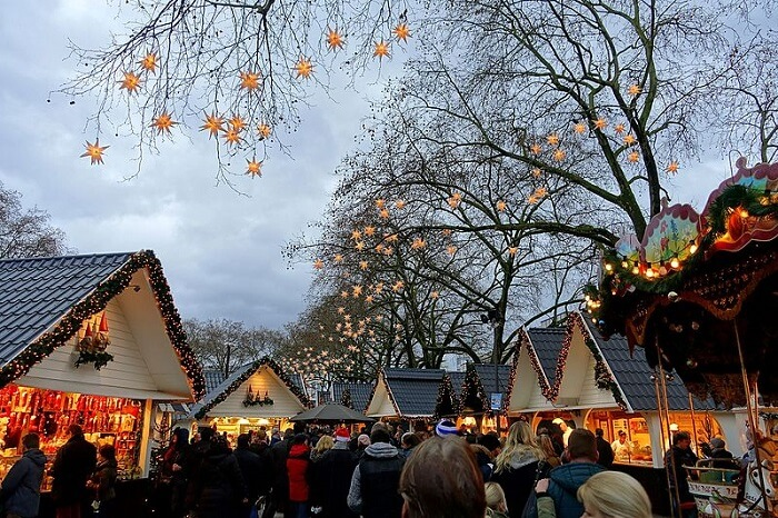 celebrating christmas people gathering