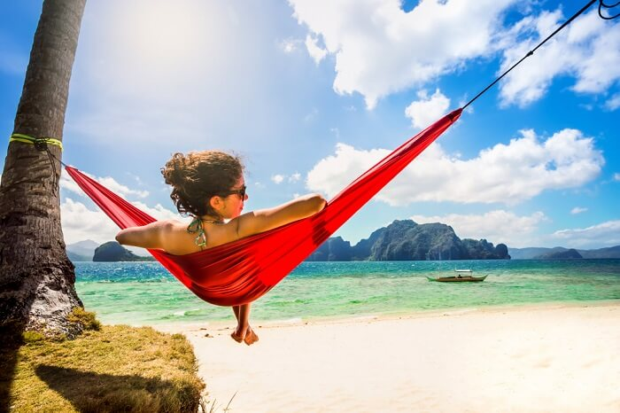 woman chilling on hammock in cebu