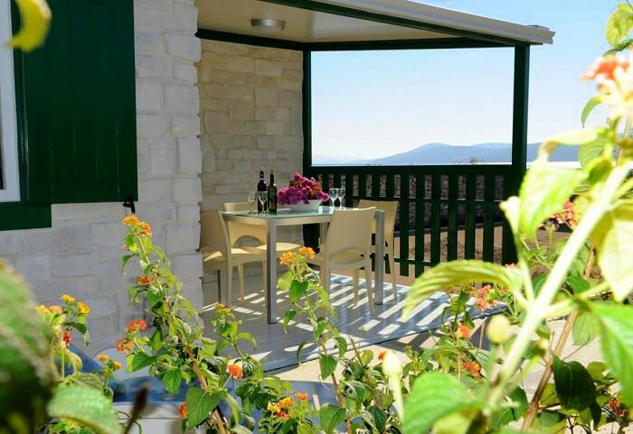 balcony in holiday resort croatia
